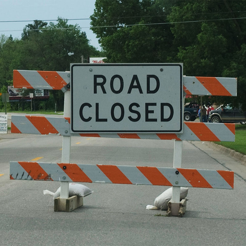 Pipeline work temporarily closes Richey Road